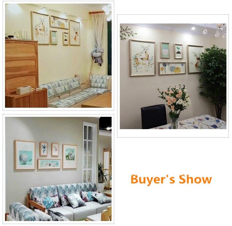 Plus Größe Wohnzimmer Dekor Sofa Kulisse Wänden Bilderrahmen Set Moderne  Holz Bilderrahmen 5 Stücke Wand Bilderrahmen Bastidor In Plus Größe  Wohnzimmer ...