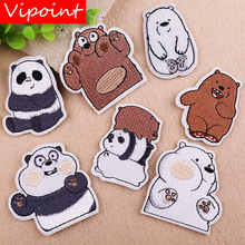 VIPOINT embroidery bear patches panda badges applique for clothing YX-15