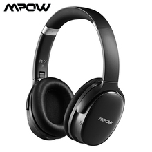 Mpow H10 Active Noise Cancelling Bluetooth Headphone HiFi Stereo ANC Wireless Wired Foldable Headset With Dual