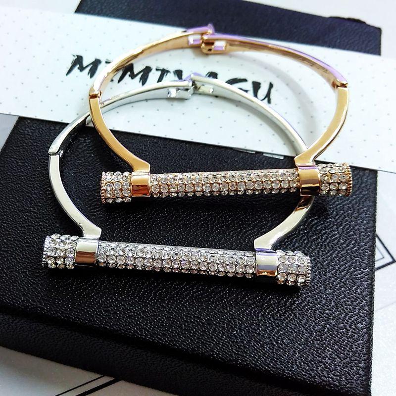 Berömda lyxiga kristall manschettarmband armbandsringar armband manschett smycken