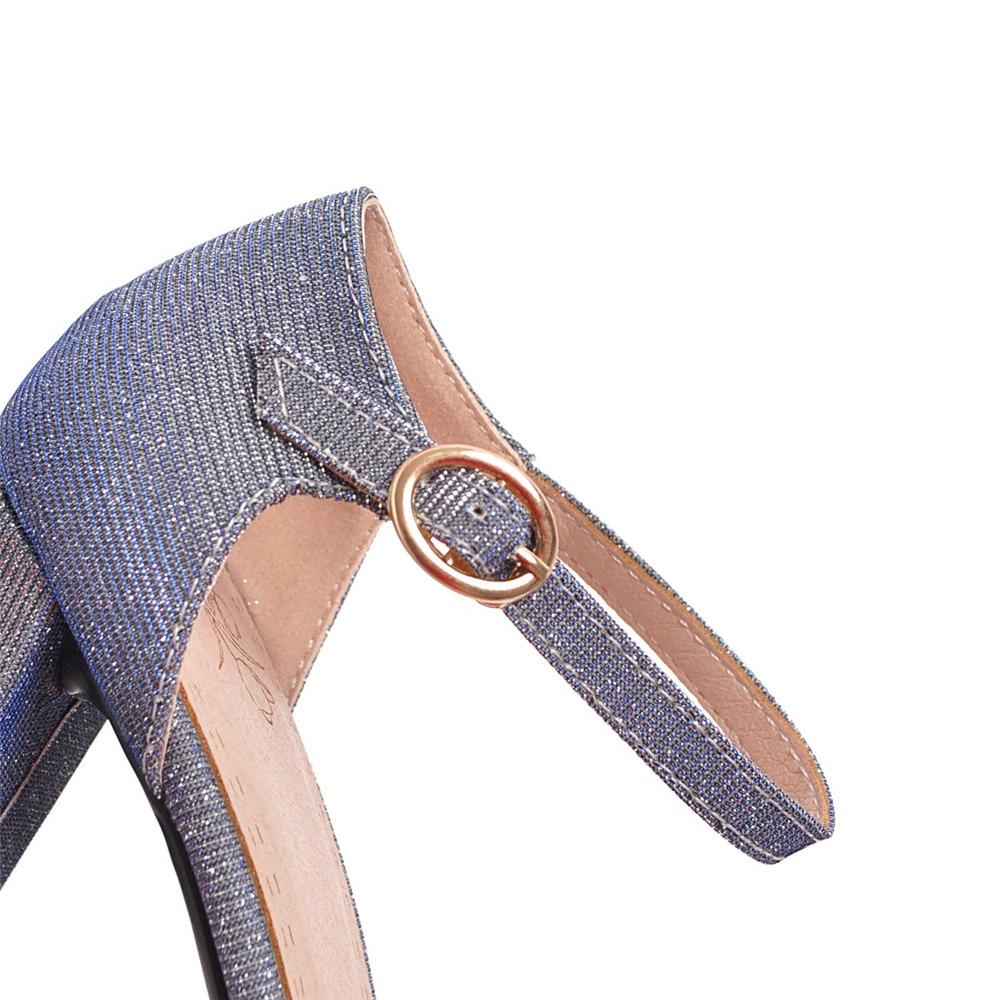 Talon De Femmes Boucle Pointu Arrivée Nouvelle Mariage Bout Pompes Carré pourpre Mode Simple Partie D'été Noir bleu Chaussures 2018 Morazora xwnAFA