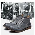 4 Color Comfy Casual Vestido Formal Oxfords Hombres Chukker Botas Botines de Invierno de Cuero Genuino Super Caliente Zapatos de la Felpa