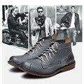 4 Cores Confortável Ocasional de Couro Genuíno Vestido Formal Oxfords Mens Chukka Tornozelo Botas de Inverno Super Quentes Sapatos de Pelúcia