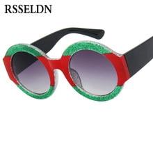 RSSELDN Marque De Luxe Surdimensionné Ronde lunettes de Soleil Femmes  Marque Designer De Mode Cristal Lunettes de Soleil Pour Fe. 7f0d0bd327f8