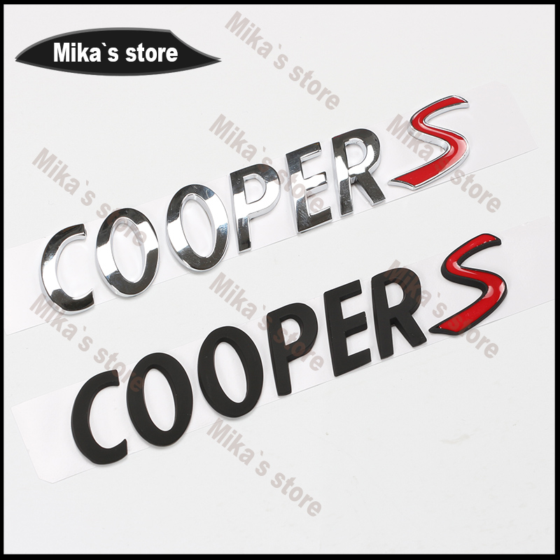 Car styling New~For MINI 3D Metal Mini Cooper S Back Car Emblem Badge Sticker