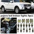 9 x Ошибка Бесплатный Белый Интерьер Свет Пакет Комплект Для Mitsubishi pajero 2007-2014 аксессуары для чтения дверные огни