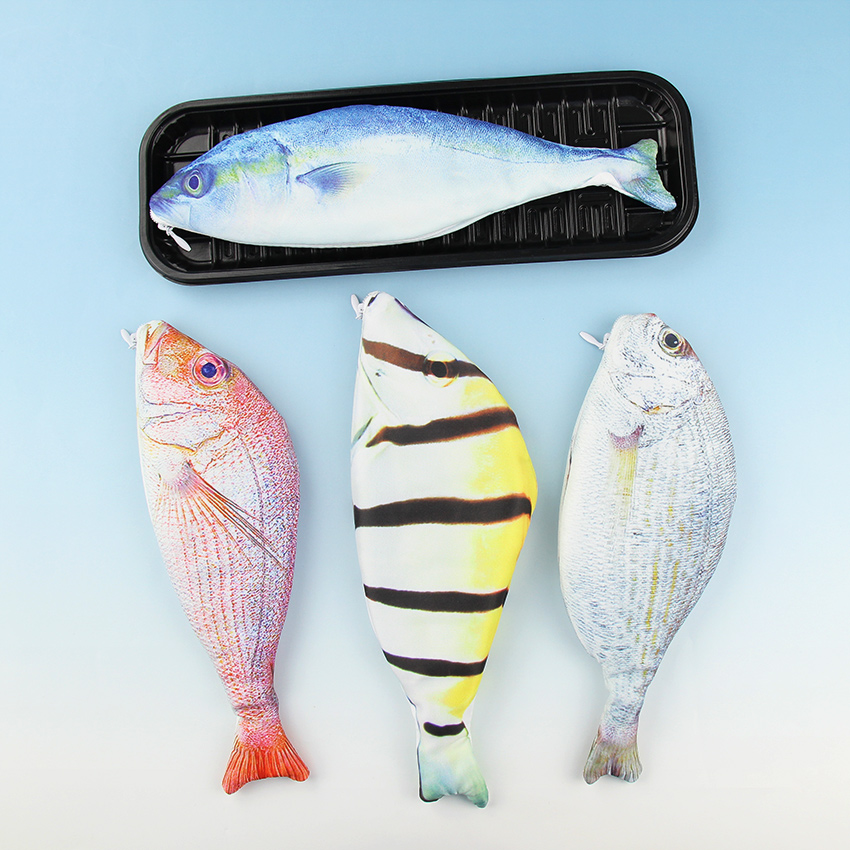 1 pcs new kawaii fish pencils case cute simulation cloth for Fish pencil case