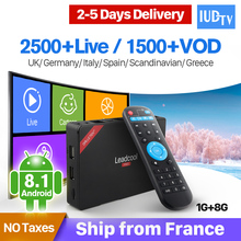 Greek IUDTV Code Leadcool Pro Europe Android 8.1 RK3229 4K IPTV Decoder Sweden Turkish Italy Nordic Albania IP TV 1 Year