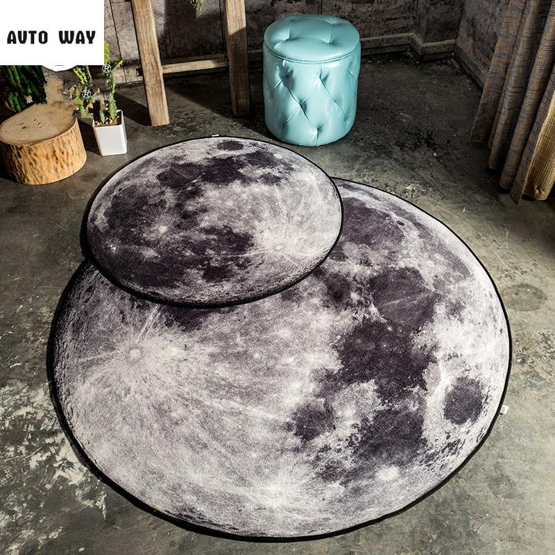 Kreative Lunar Studie Runde Carpet Wohnzimmer Couchtisch Matten Bettvorleger Schlafzimmer Computer Stuhl Freies Verschiffen