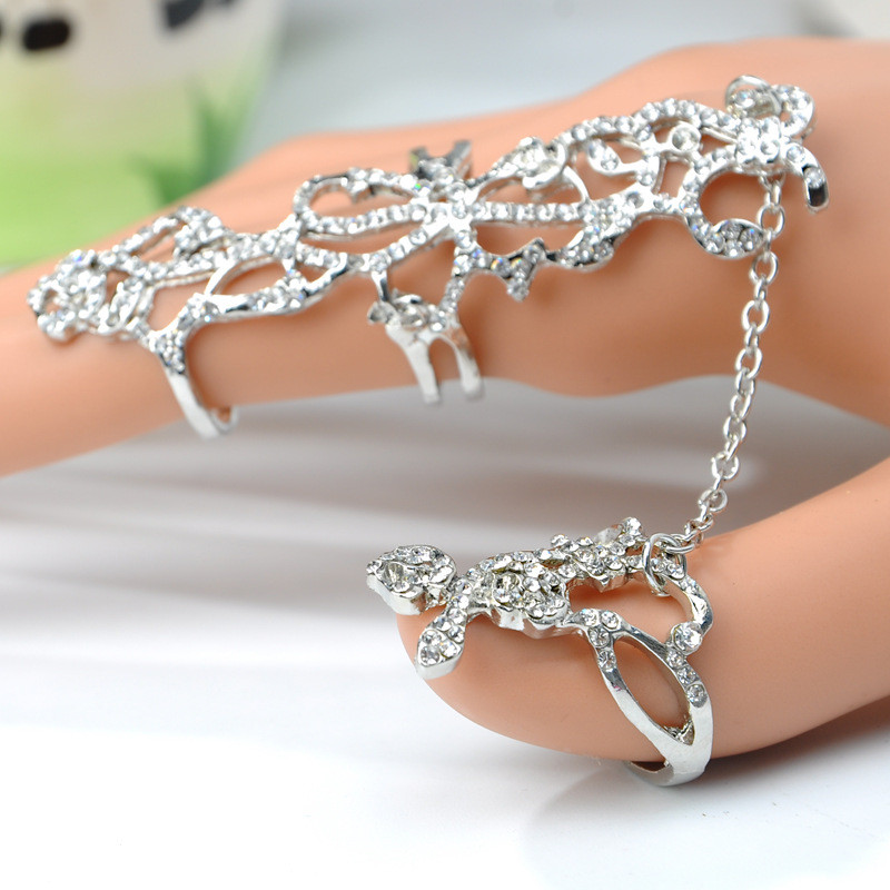 Women Multiple Finger Stack Knuckle Band Crystal Ring Set Fashion Jewelry Gift