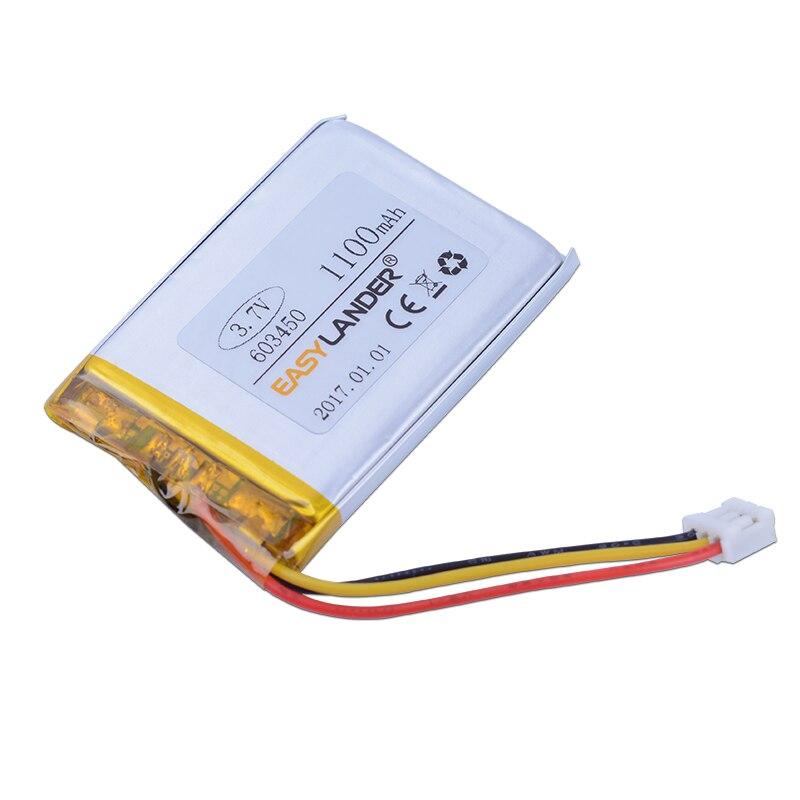 Considerado 603450 De 3,7 V 1100 Mah Recargable Li Batería De Polímero De Iones De Litio Para Logitech G900 Mp3 Mp4 Dvr Gps Altavoz Juguetes Sp603450 603550 Hermoso En Color