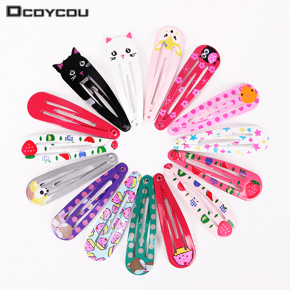 18PCS/3 Set Children Snap Hair Clips Barrettes Girls Cute Hairpins Colorful Headbands for Kids Hairgrips Hair Accessories