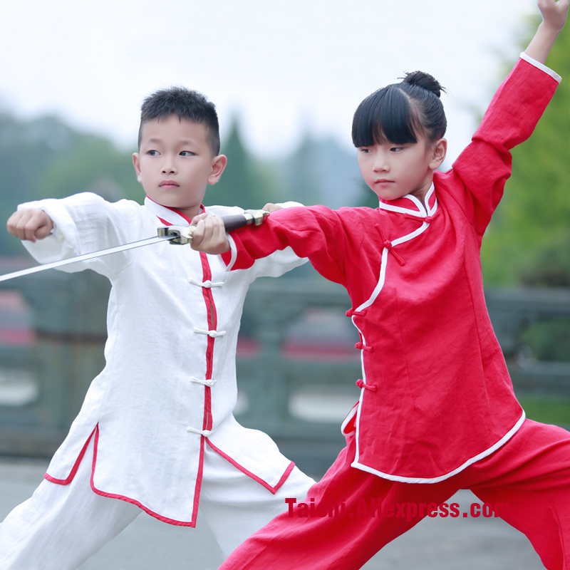 Wu Nong Wudang Tai Chi Clothing And Children's Summer Linen Children Wushu Taijiquan Children's Clothing