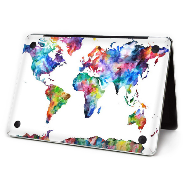 Ycsticker Laptop Sticker Bottom Full Vinyl Decal World Map Skin For
