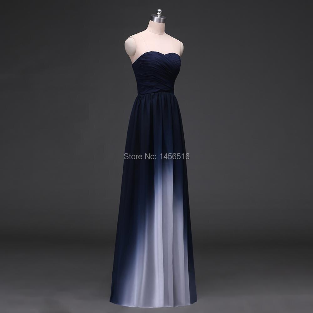 Menoqo Vestido de festa Design A Line Ombre Evening Gowns Chiffon ...
