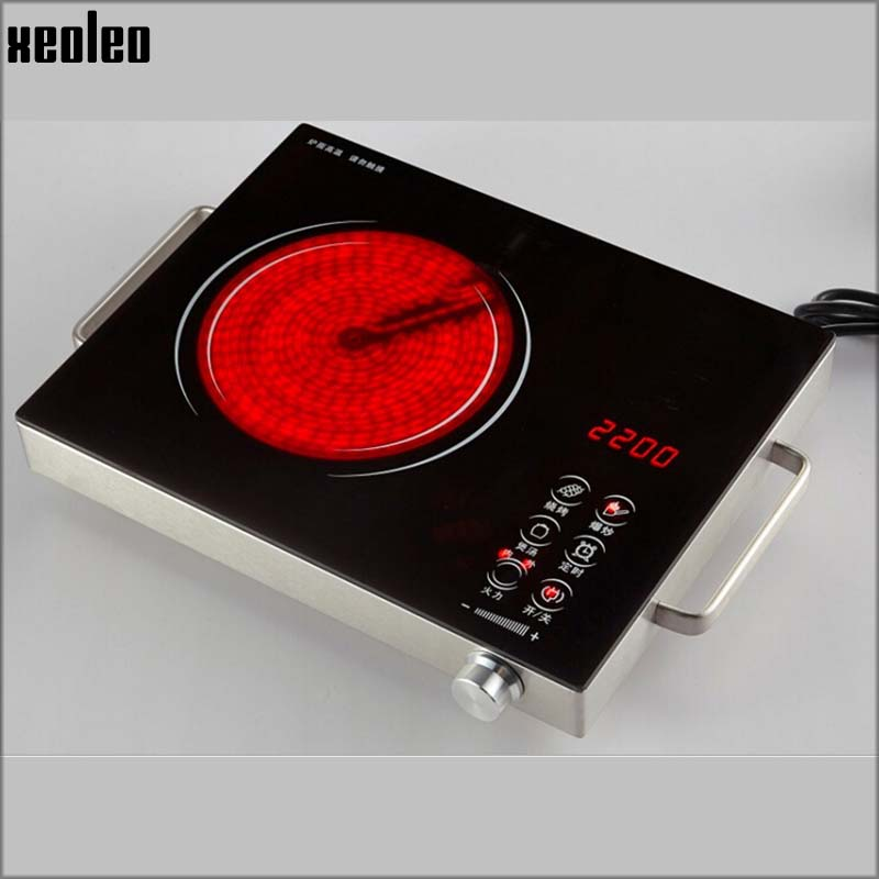xeoleo electric ceramic cooker ceramic glass hob 2000w electric induction cooker with timing household electric ceramic