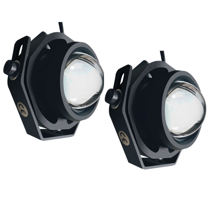 2PCS Led Car Fog Lamp Super Bright 1000LM Waterproof DRL Eagle Eye Light External Lights Daytime Running Lights 1 pair metal shell eagle eye hawkeye 6 led car white drl daytime running light driving fog daylight day safety lamp waterproof
