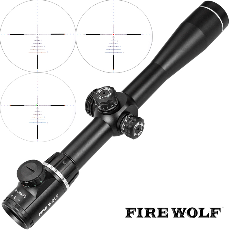 FIRE WOLF QZ 6-24X40 Z600 Side Parallax Optics Riflescope Hunting Scopes Tactical Sniper Rifle Scope For Airsoft Rifle 8 24x40