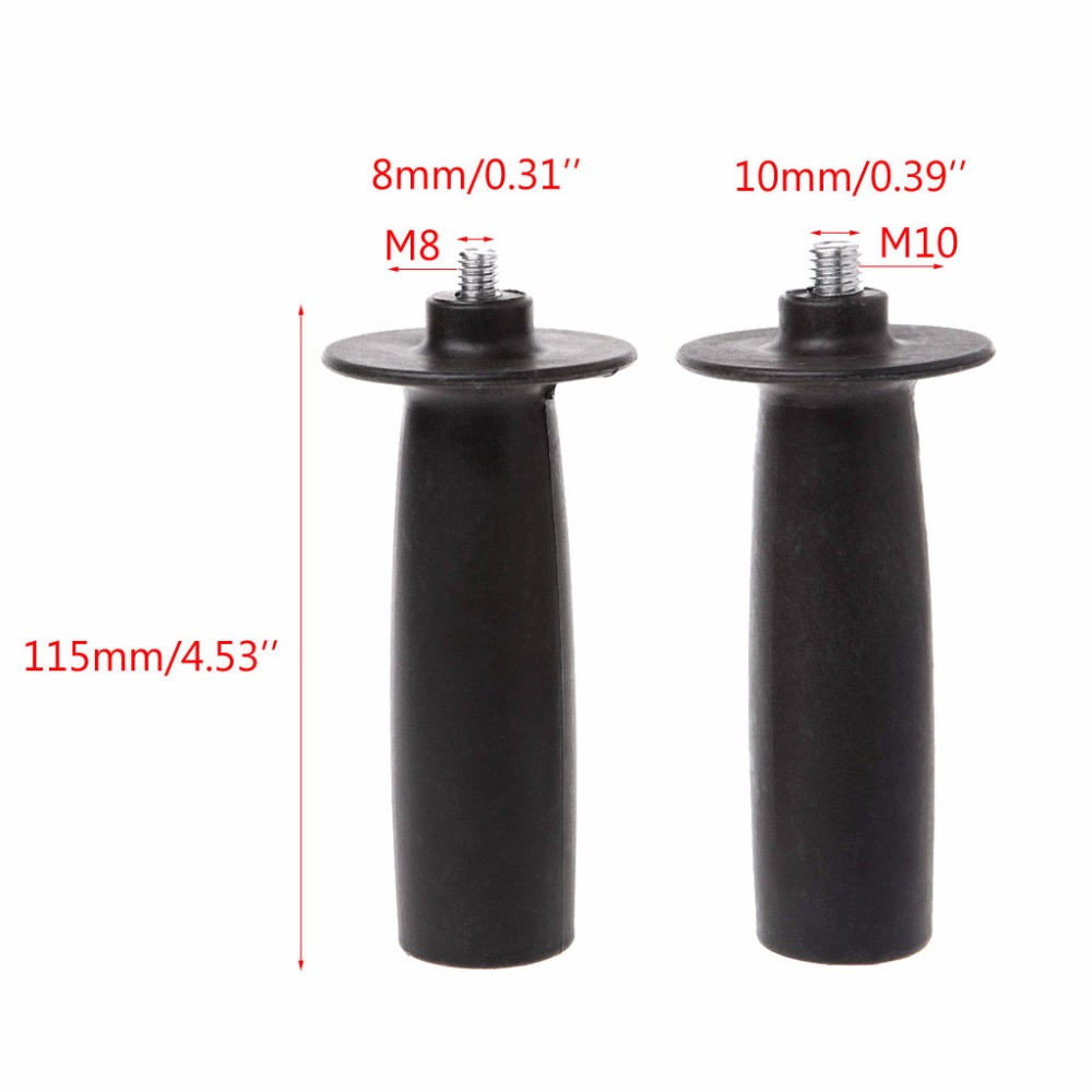 8/ 10mm Black Thread Auxiliary Side Handle For Angle Grinder Grinding Machine Tools