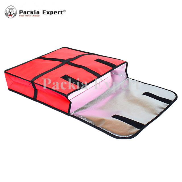 GemäßIgt 22 Zoll Pizza Taschen (2 Stücke/basg) 58*58*11 Cm Pizza Lieferung Tasche Rot Farbe Nehmen Sie Lebensmittel Pizza Lieferung Tasche