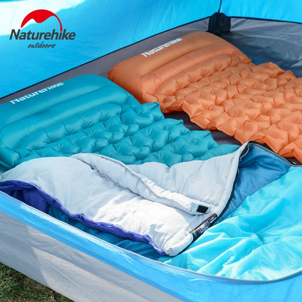 New New Outdoor Inflatable Cushion Sleeping Bag Mat Fast Filling Air Moistureproof Camping Mat With Pillow Sleeping Pad 460g naturehike camping mat outdoor inflatable cushion fast filling air moistureproof camping mat with pillow sleeping pad 460g