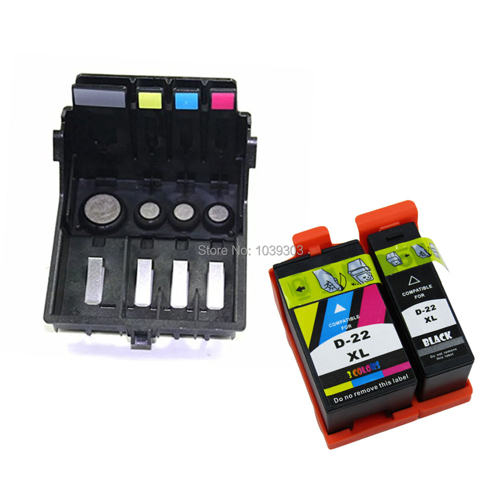 Replacement Dell 21 ink cartridge + 4-slot Printhead Print Head or DELL P513w V313 V515w V313w V715w Office Printer dell 21 protective silicone case cover for xbox 360 kinect red