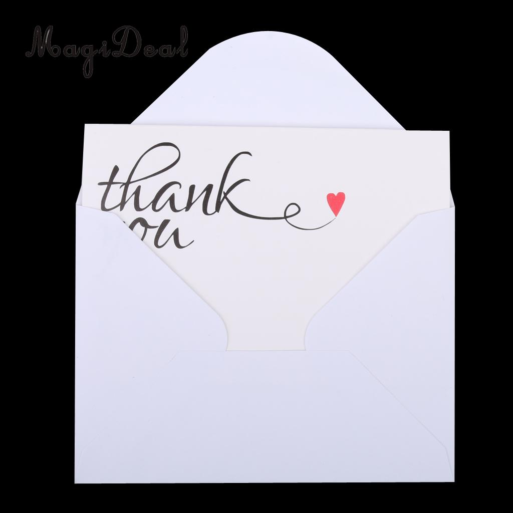 magideal lovely 50pcs thank you cards with envelopes red hearts wedding engagement party bridal guest table decor white 13 x 9cm in cards invitations from - Engagement Thank You Cards