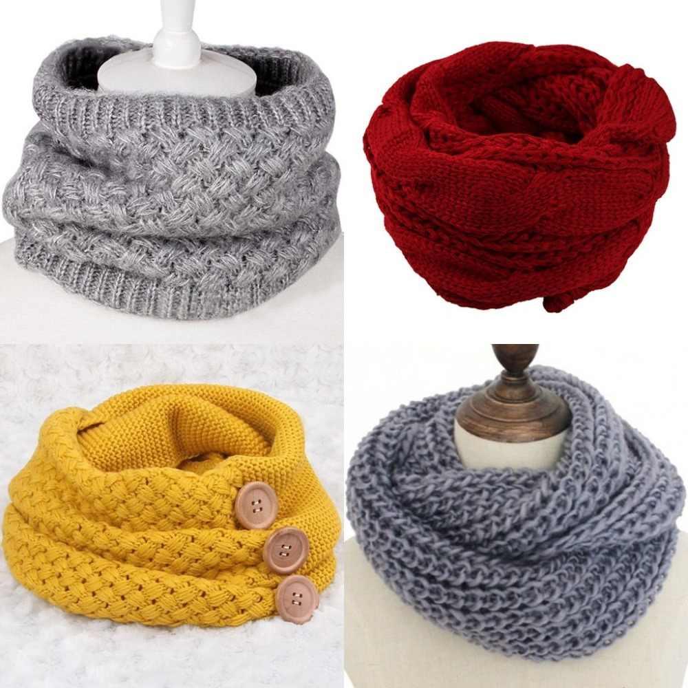 Оптовая продажа Зимний кабель кольцо шарф Женские Вязаные Шарфы Вязаный теплый для шеи шарф-хомут шали шарф пашмины шерсть шеи Теплый