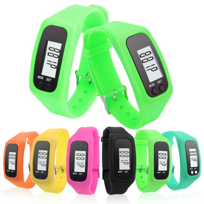 LCD Neutral Pedometer Watch Sports Watch Walking Distance Counter Card Running Kilometer Step Portable Sports Fitness Pedometer