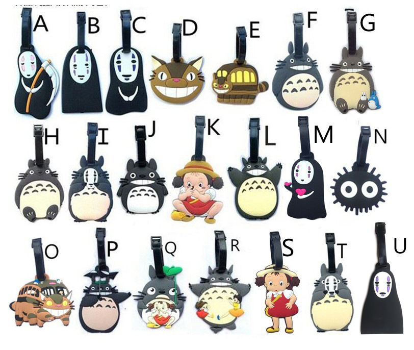 Hayao Miyazaki Spirited Away Without Face Totoro Man Bus Luggage Tag Luggage Tags Check Your Boarding Pass