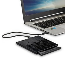 Latest USB3.0 Ultra Slim Portable DVD Rewriter Burner,External DVD Drive Optical Drive CD+/-RW DVD +/-RW Superdrive for Macbook