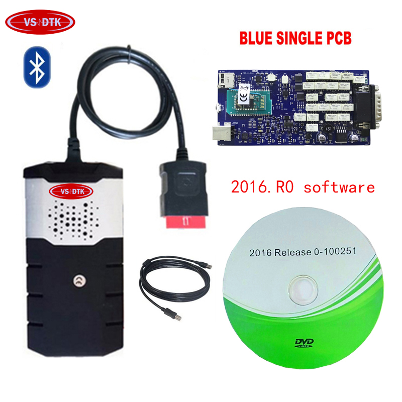 newest 2016 00 for delphis blue Single PCB Board VD DS150E CDP PRO Plus OBD2 Scanner