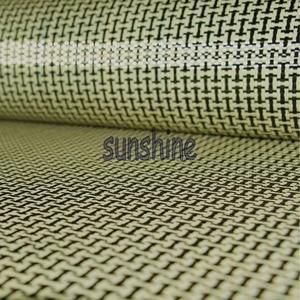 Image 4 - 185gsm Carbon Aramid Fiber Hybrid Fabric Plain woven  I shaped Square Fabric Yellow