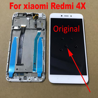 Original Best IPS LCD Display 10 Touch Screen Digitizer Assembly with frame For Xiaomi Redmi 4X Phone Panel parts replacement