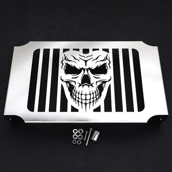 Chrome Skull Engine Tank Cooling Radiator Grill Grille Guard Cover Protector For Honda Magna VF 750 VF750C 1994 - 2004