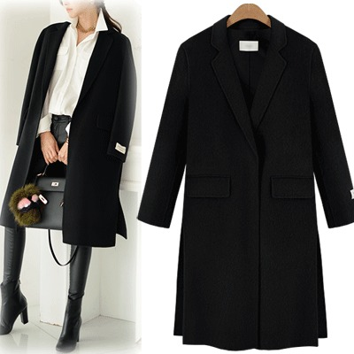 Popular Long Black Coat-Buy Cheap Long Black Coat lots from China