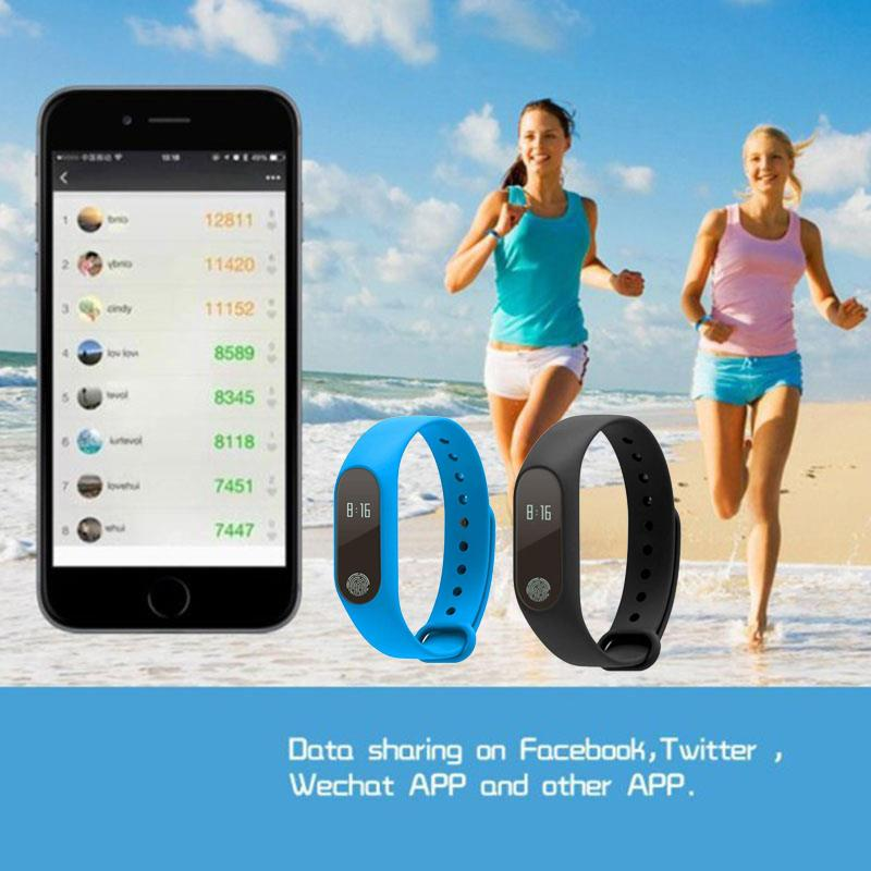 Original M2 Bluetooth Smart Band Heart Rate Monitor Waterproof Swimming Message Android Smartphone Step Tracker smart