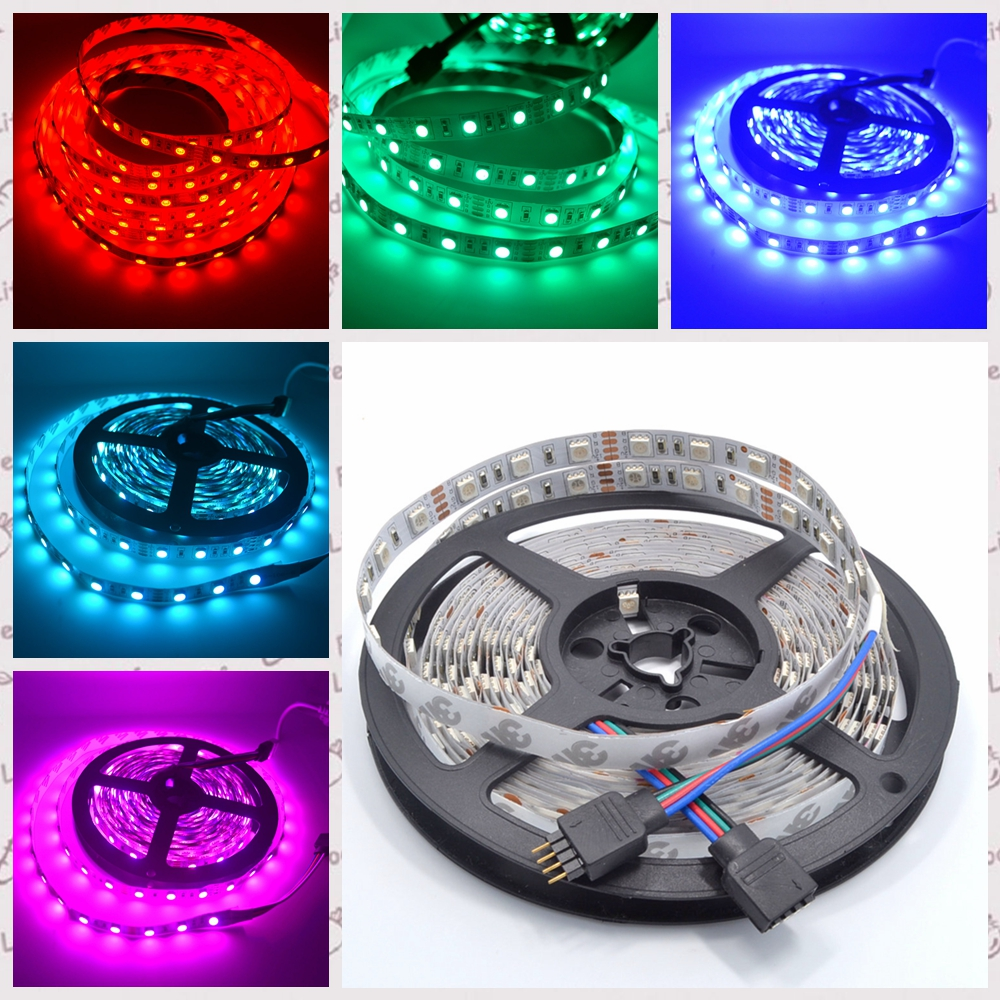 5m 300 LEDs 5050 SMD DC 12V Waterproof IP65 IP20 Flexible LED Light 60leds/m White RGB Party Light flexible light 5050 Led Strip 72w 3600lm 6500k 300 5050 smd led white light lamp strip w rf dimmer black white yellow 5m