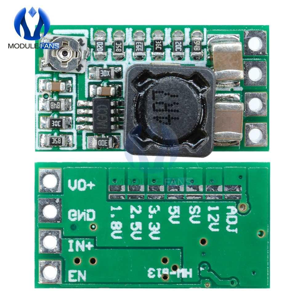 5 шт. понижающий модуль питания мини dc-dc 12-24 В до 5 В 3A преобразователь напряжения Регулируемый 1,8 в 2,5 в 3,3 В 5 в 9 в 12 В