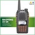 De alta calidad de banda dual 5 w negro uv-6r baofeng vhf uhf radio de dos vías transmisor bf-uv6r