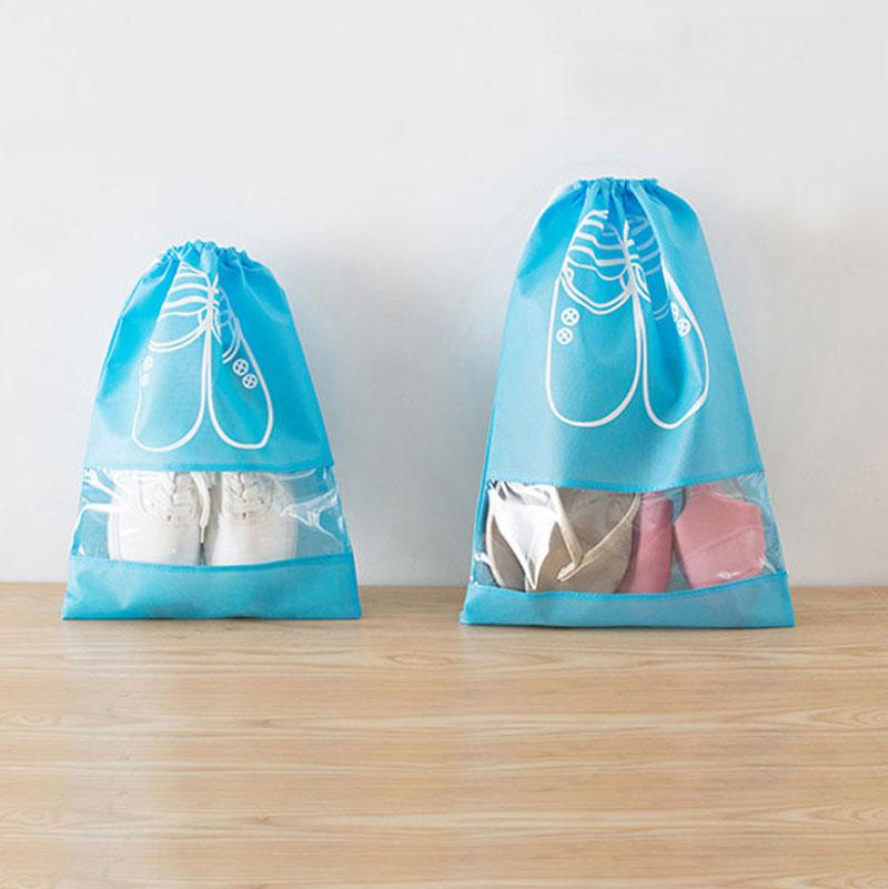 5/10pcs Non-Woven Fabric Shoe Storage Bag Portable Travel Storage Bags For Shoe/Clothes Waterproof Tote Drawstring Bag Organizer