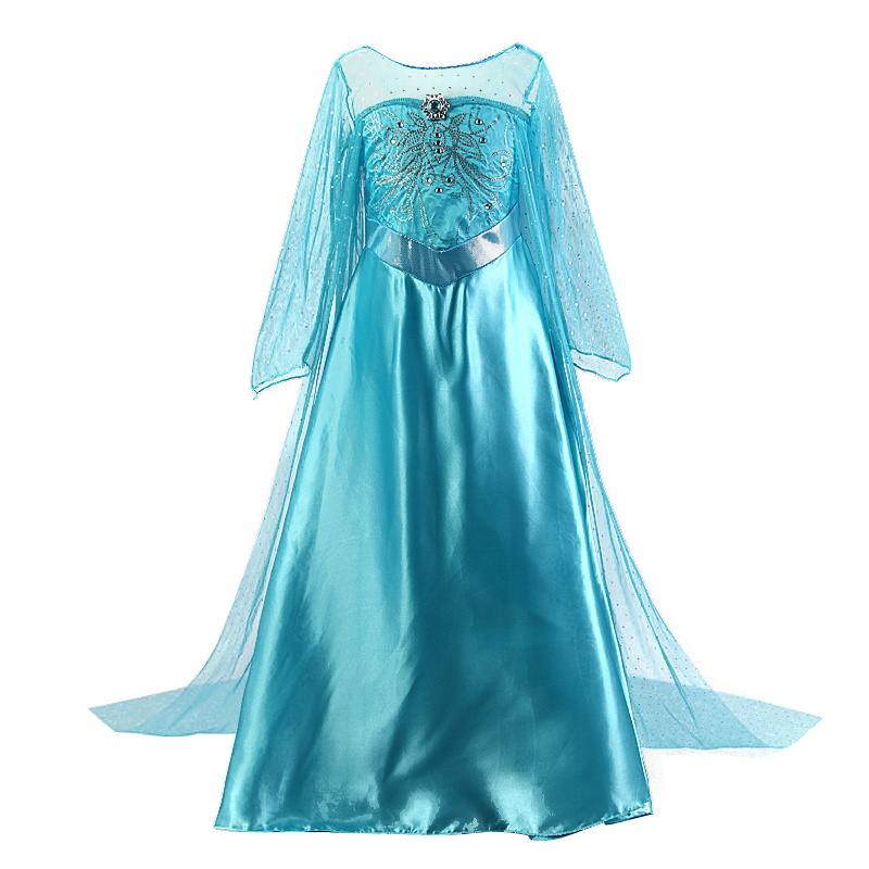 Girls Anna Elsa Dress Cinderella Cosplay Costume Fancy kids Party Fantasia Menina Princess Christmas Costume Snow Queen Cosplay children anna elsa princess birthday dresses cosplay party fancy costume with cape christmas dress child blue red clothes kids