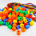 Геометрические блоки из бисера 350 г  веревка для резьбы для детей в возрасте от 3 до 7 лет  настольные игрушки для детского сада