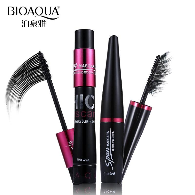 5df35abd12d 2 pcs/lot BIOAQUA 3D Fiber Mascara Makeup Set Eyelash Extension Lengthening  Volume