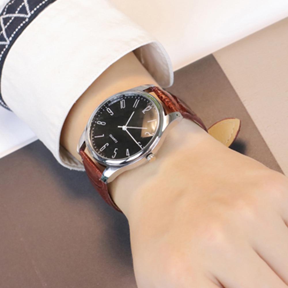 Лидер продаж Мужская простой Бизнес модные кожаные кварцевые наручные часы Dropshipping 2018