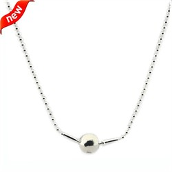 Authentic 100% 925 Sterling Silver Beads Necklace Fits Essence Collection Charm Beads DIY Fashion Jewelry Women Gifts FLB009