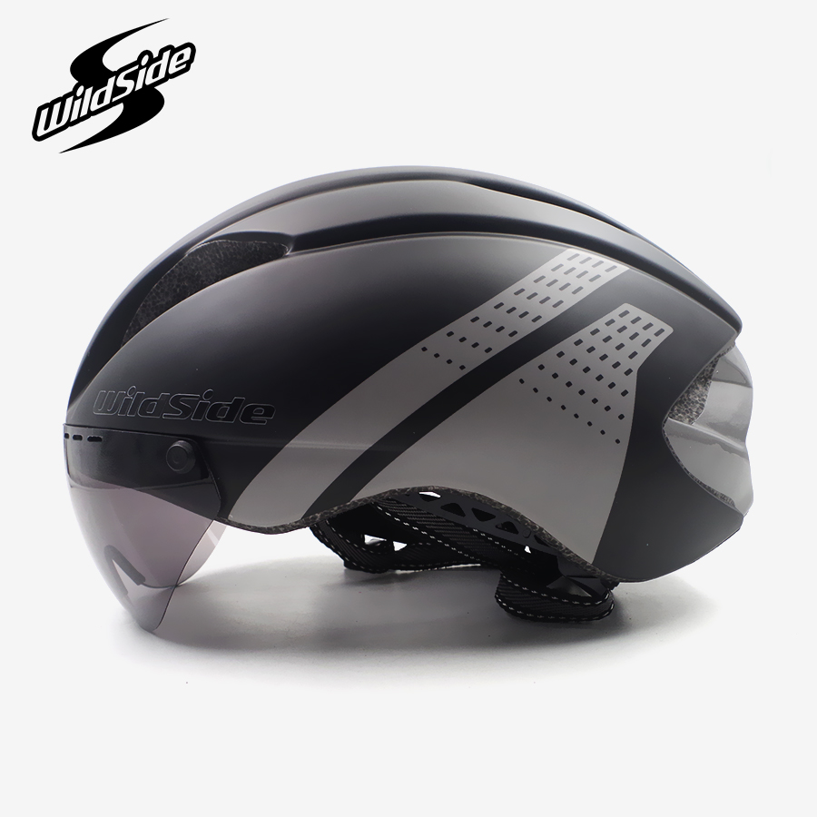 цена на Ultralight bicycle helmet men race road mtb mountain bike helmet goggles EPS In-mold lens tt cycling equipment Casco Ciclismo