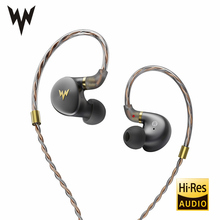 Whizzer A-HE03 Juicy Bass Earphones HiFi Hi-Res Headsets Hybrid 2 Knowles Armature Clear Warm Sound Metal In Ear Earphones