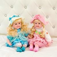 45cm Silicone Reborn Baby Dolls Fashion Dolls For Princess Children Birthday Gift Bebes Reborn Barbie Doll