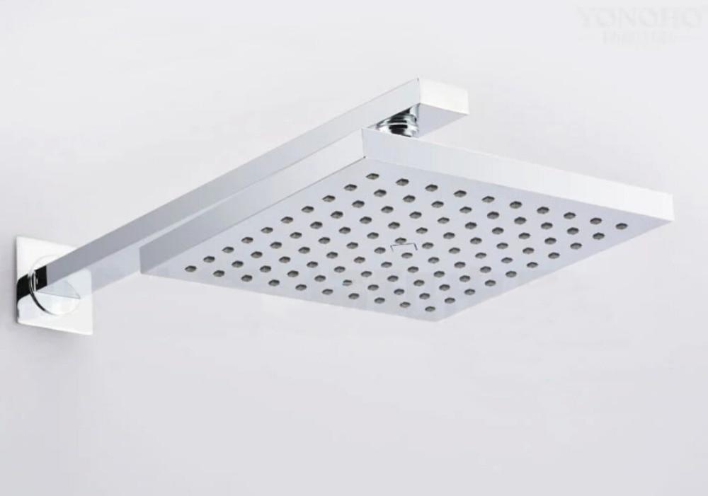 Livraison gratuite en gros et au détail ABS 8 pouces pulvérisateur de tête de douche de pluie avec barre de bras de douche en acier inoxydable TH033
